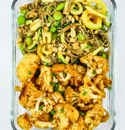 Thai Peanut Cauliflower Meal Prep
