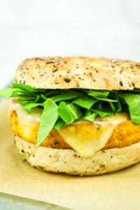 Easy Tofu Breakfast Sandwiches - Breakfast MEAL PREP! These vegan breakfast sandwiches are so good. Tons of protein and great for busy mornings.