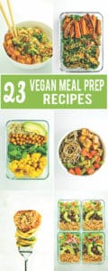 Vegan Meal Prep Recipes - This vegan meal prep roundup has it all! From burrito bowls and lettuce wraps to breakfast burritos and jar salads. A few side dish ideas are included at the bottom – they're perfect for adding to your favorite grain + protein combo!