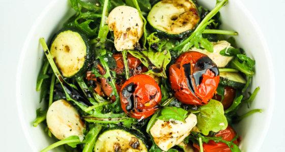 Grilled Zucchini Caprese Salad