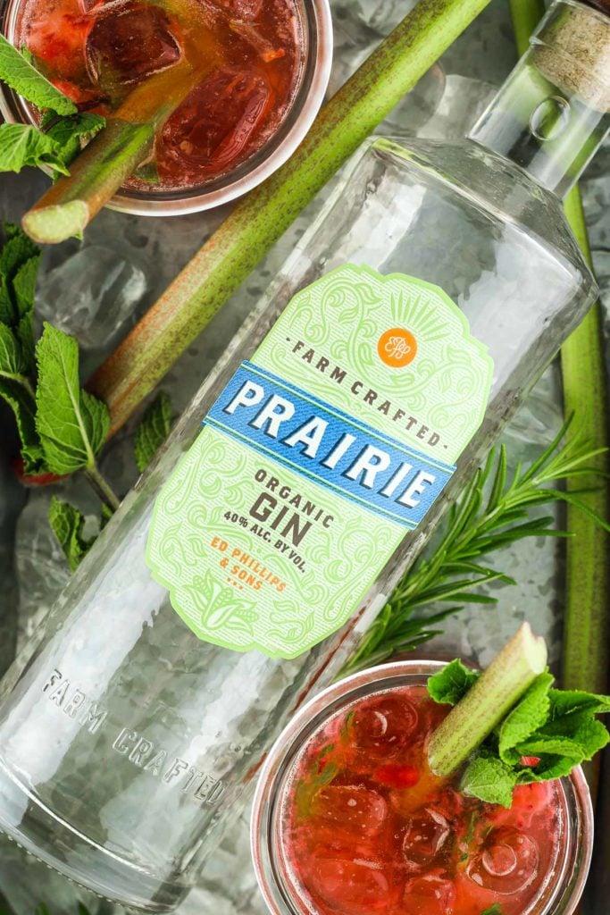 Rhubarb and Gin Bottle