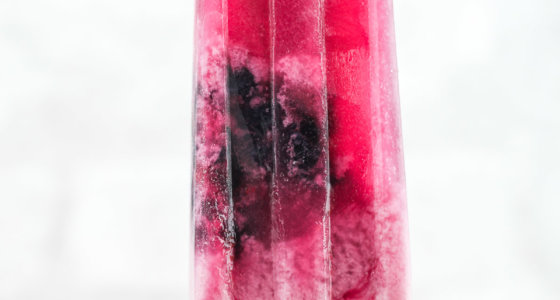 Blueberry Coconut Lime Popsicles