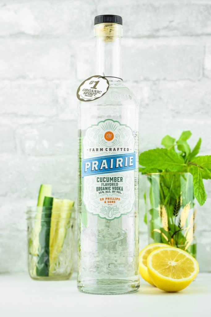 Cucumber Vodka Lemonade Bottle Lemons
