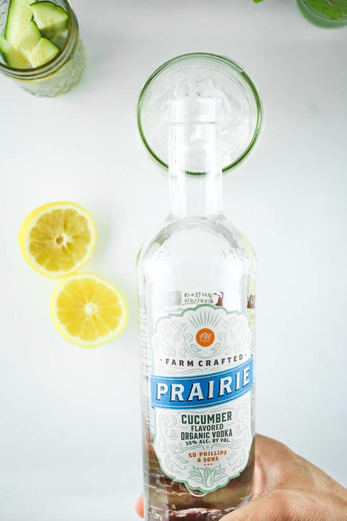 Cucumber Vodka Lemonade Bottle
