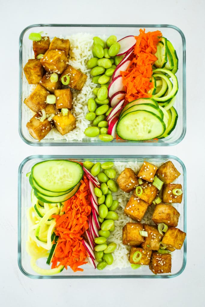 Tofu Poke Bowl Meals Prep