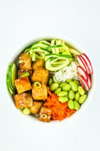 Tofu Poke Bowl Meal Prep - Tofu poke bowls! Love these for a vegan meal prep recipe. So easy to make and super filling!