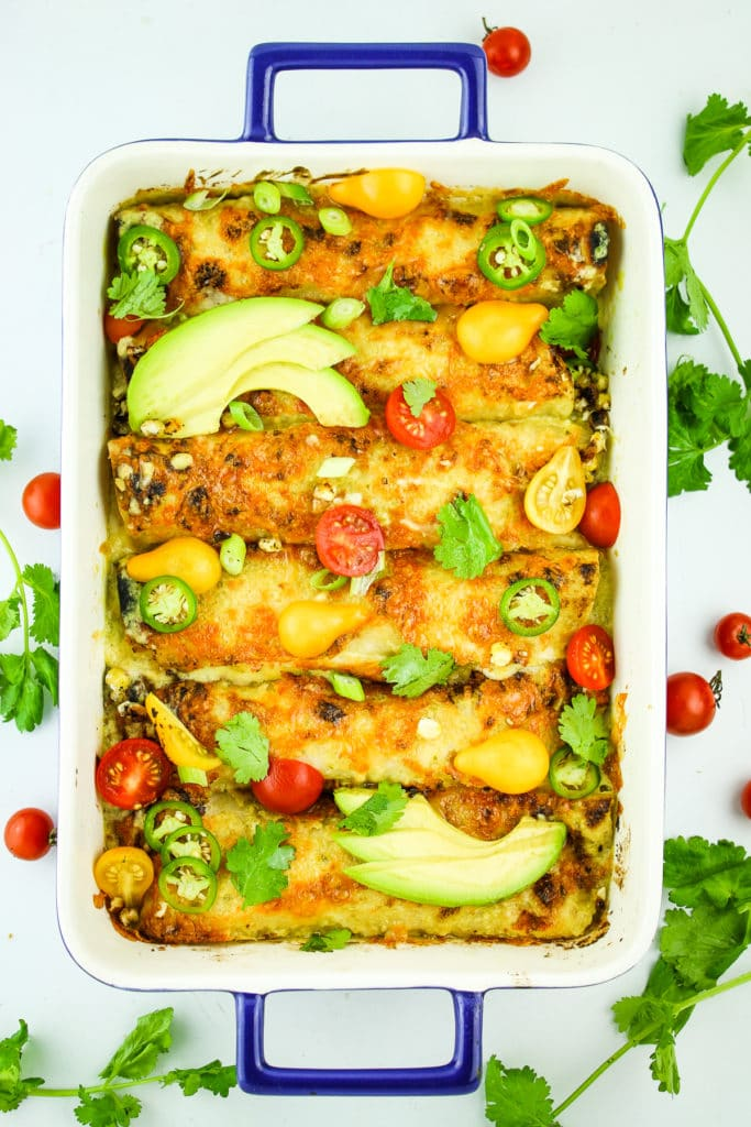 Vegetarian Breakfast Enchiladas Oven Tray