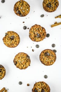 Chai Baked Oatmeal Muffins - This oatmeal muffin recipe is a total knockout. EVERYONE loves them. Easy to make, great meal prep breakfast, and they freeze well.