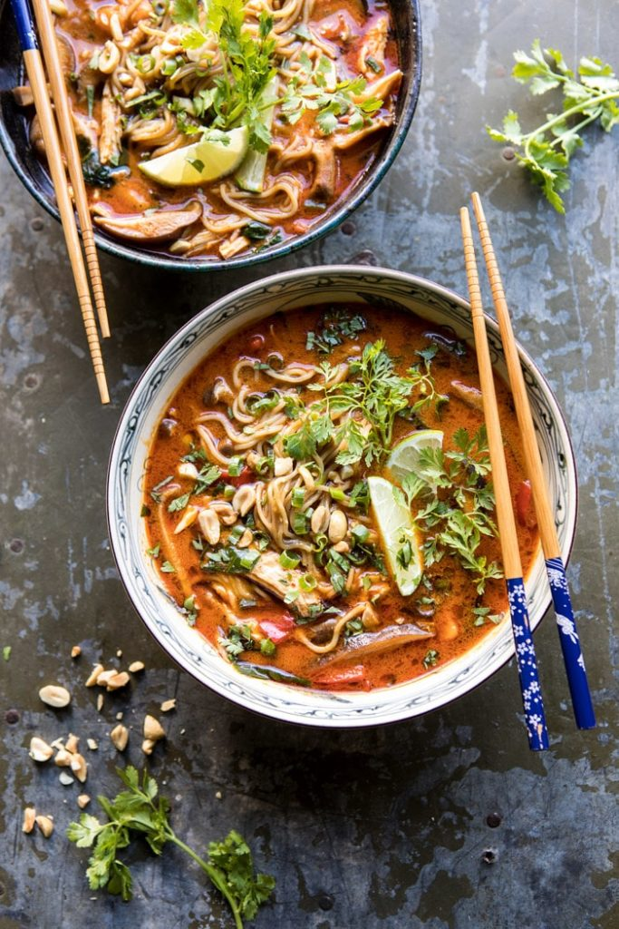 Thai Peanut Chicken Ramen