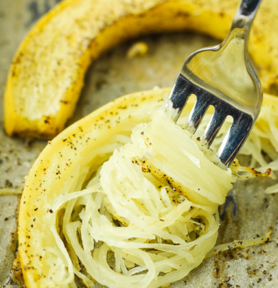 The Quickest Roasted Spaghetti Squash