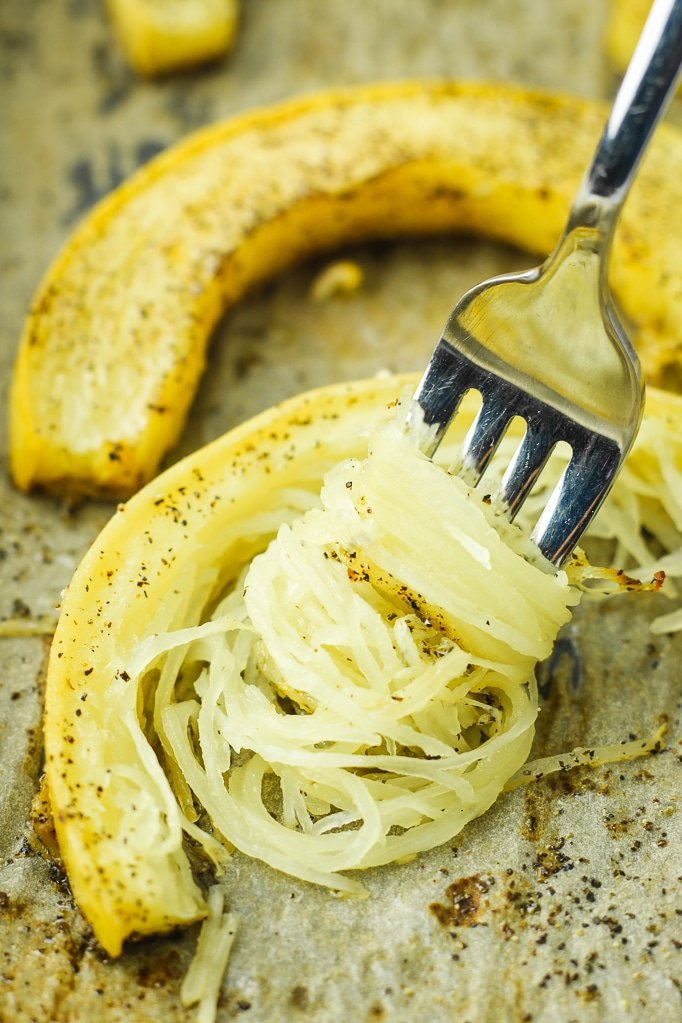 Quickest Roasted Spaghetti Squash