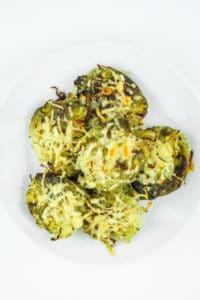 Smashed Brussels Sprouts – Crispy, cheesy, brussels sprouts! This is one of the best side dishes for the holidays or any random weeknight. They disappear in no time!