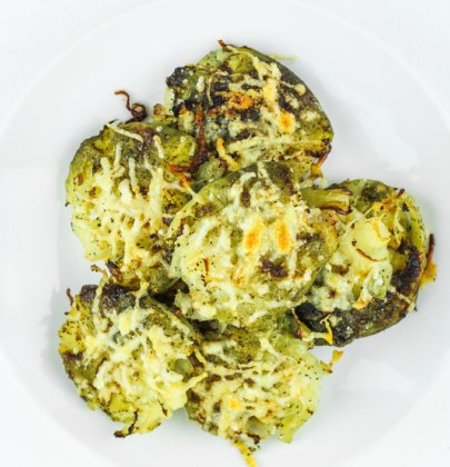 Smashed Brussels Sprouts