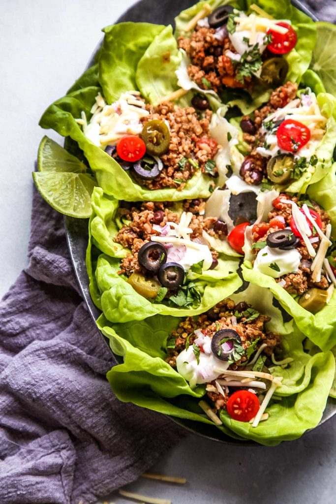 Taco Quinoa and Turkey Lettuce Wraps