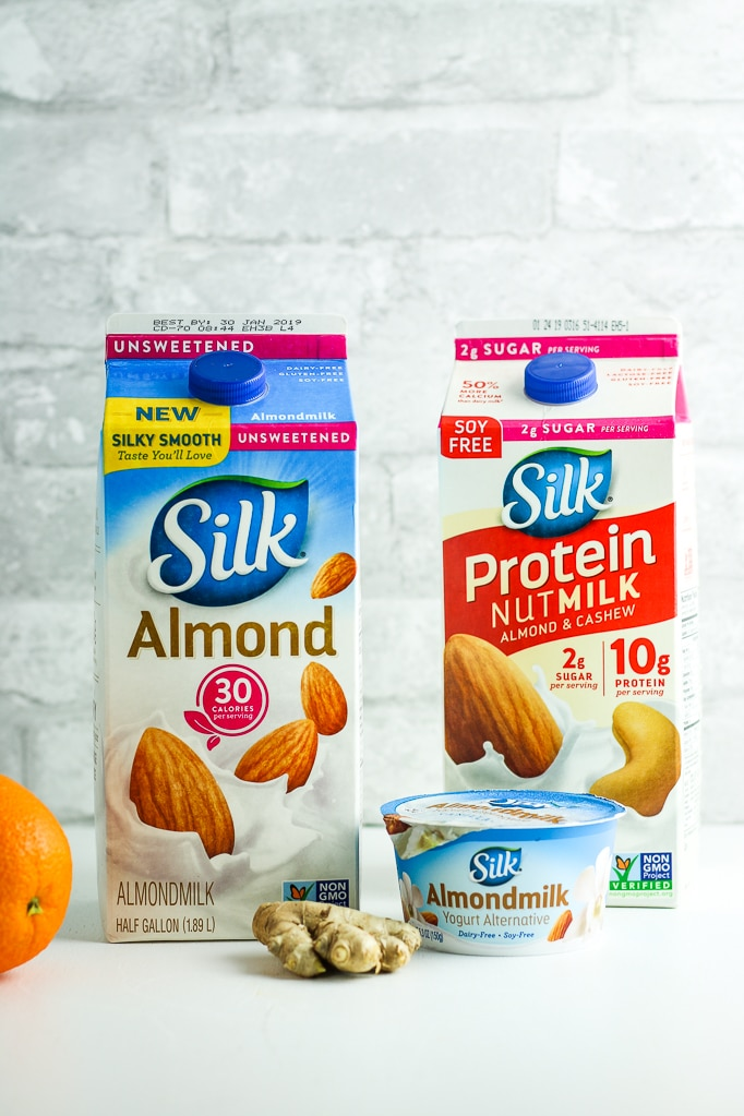 Silk Almond Milk Cartons Orange