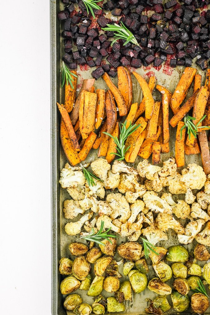 Rainbow Roasted Winter Vegetables Oven