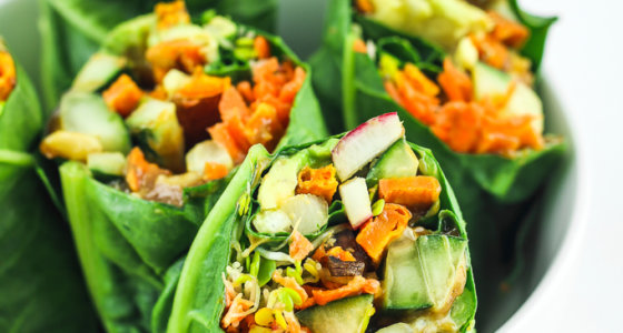Sweet Potato Chard Wraps