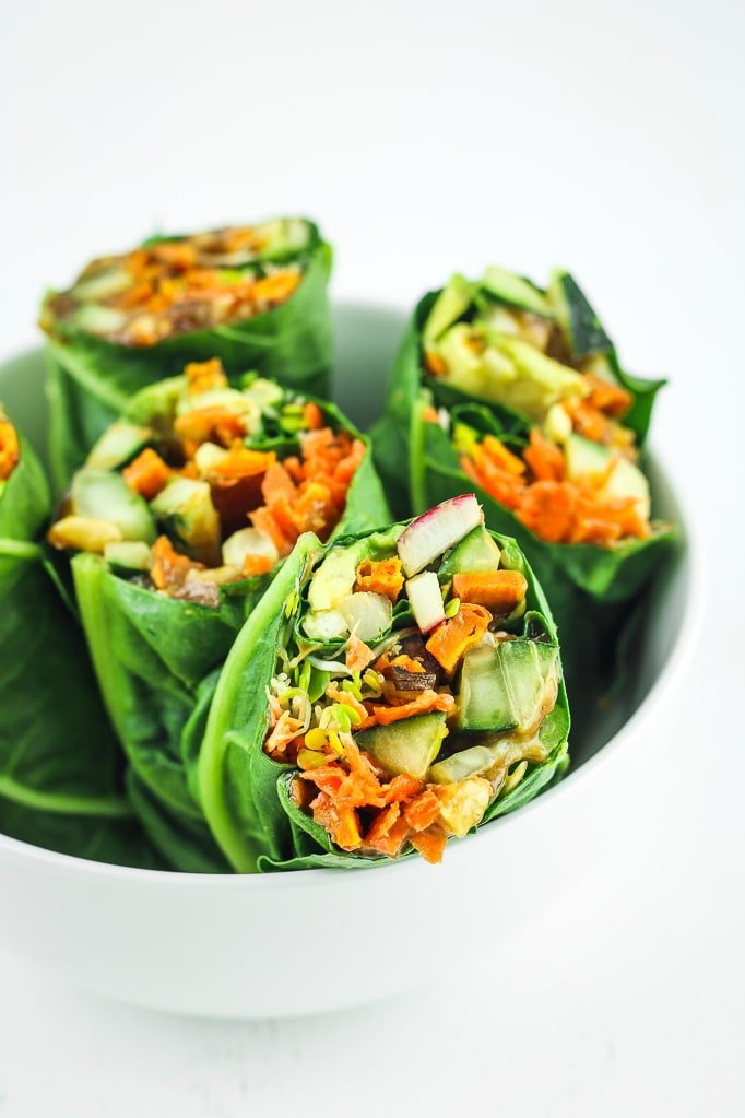Sweet Potato Collard Wraps