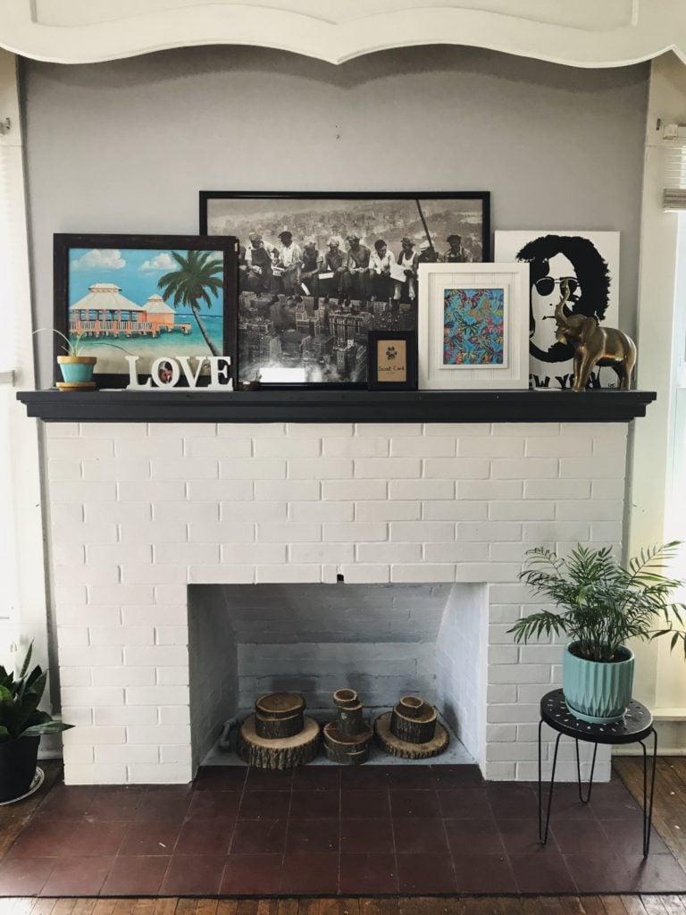 February House Update – Fireplace styling.