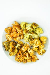 5 Easy Roasted Cauliflower Recipes – Roasted cauliflower recipes with 5 different seasonings. I love adding roasted cauliflower to our vegan meal prep or buddha bowls.