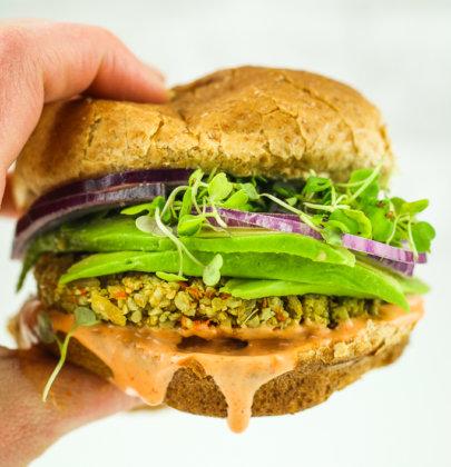Sunflower Seed Veggie Burgers