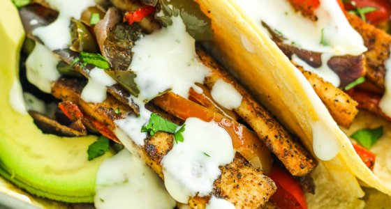 Sheet Pan Tofu Fajitas