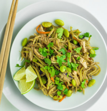 Broccoli Slaw and Chicken Stir Fry