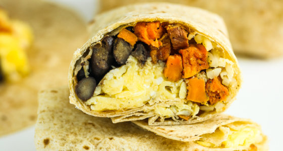 Sweet Potato Breakfast Burritos