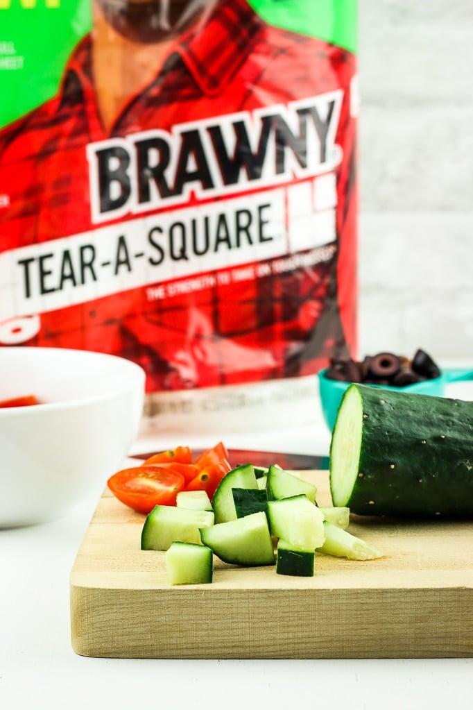 Tomato Cucumber Chopping Board