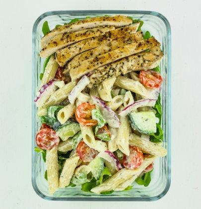 Greek Pasta Salad Meal Prep