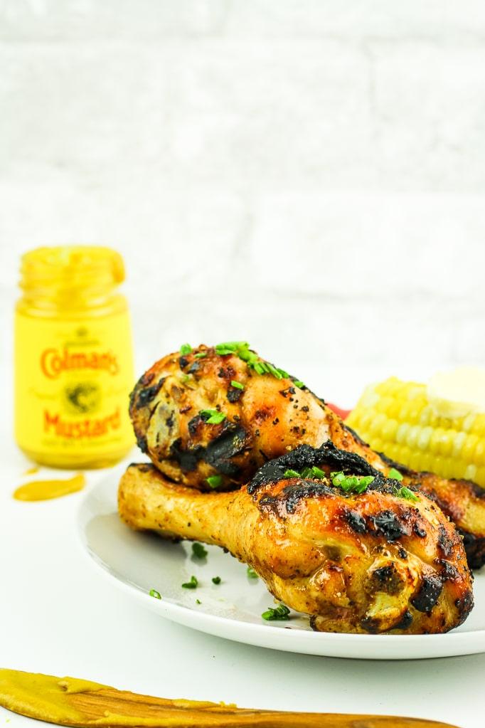 Spicy Honey Mustard Chicken Legs