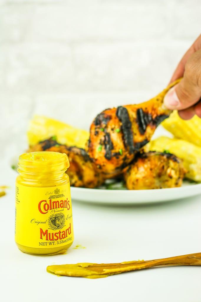 Spicy Honey Mustard Chicken Legs Mustard Jar