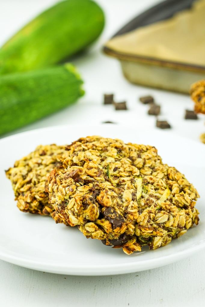 Zucchini Breakfast Cookies on Plate