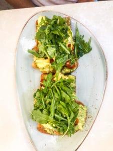 Avocado toast in Kauai
