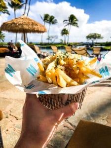 French fries in Kauai