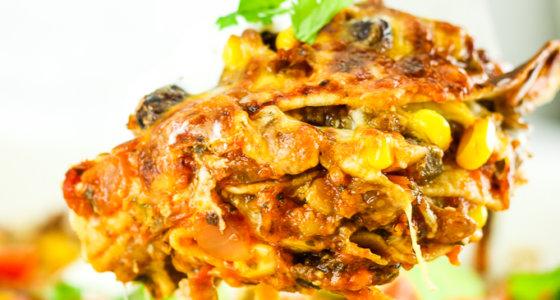 Easy Vegetarian Taco Lasagna