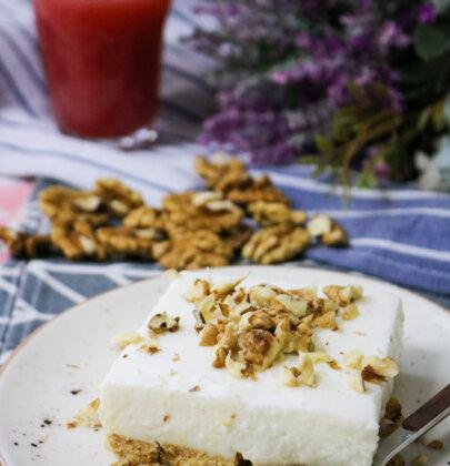 Greek Yogurt Cheesecake Bars – No-Bake