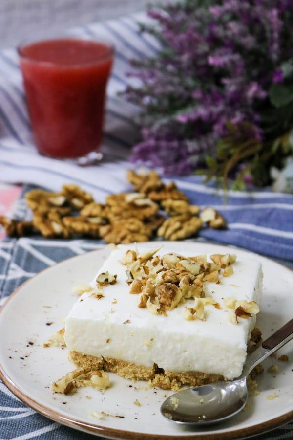 Greek Yogurt Cheesecake Bars