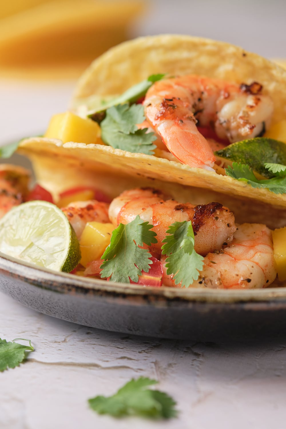 Prawn Tacos with Lime and Coriander
