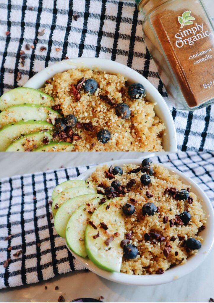 coconut quinoa breakfast bowls towels