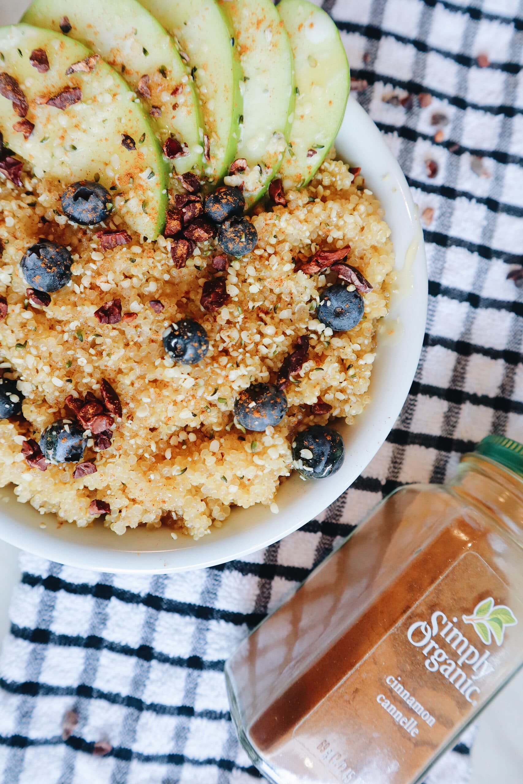 enjoy your coconut quinoa breakfast bowl sauce