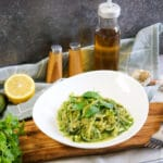 Zucchini Zoodles with Creamy avocado sauce
