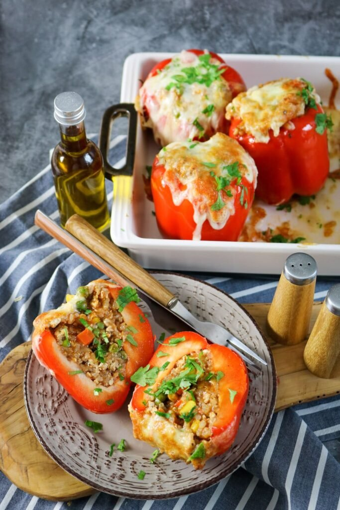 enjoy your delicious stuffed peppers